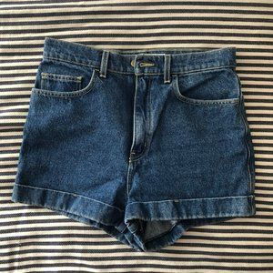 American Apparel High-Waist Denim Shorts